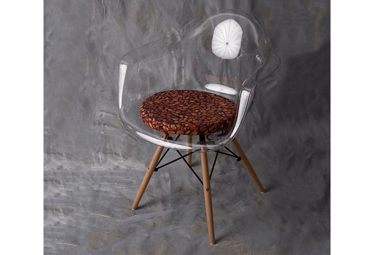 Pagalvėlė kėdei Kava